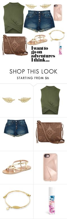 """""""Untitled #226"""" by janisan0310 ❤ liked on Polyvore featuring Jennifer Meyer Jewelry, Topshop, BLANKNYC, T-shirt & Jeans, Ancient Greek Sandals, Rebecca Minkoff and Blossom"""