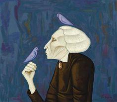John Brack...The Bird Lady 1958