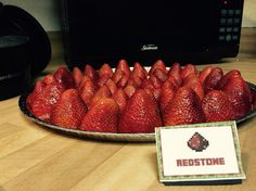 Strawberries as red stones
