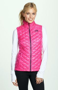 The North Face Women's ThermoBall PrimaLoft Glo Pink Vest $149 NEW Large #TheNorthFace
