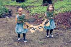 Flower Girls and Ring Bearers ~ What can a flower girl or ring bearer hold other than a pillow or basket? ~ How to Incorporate your Young Attendants in with your Wedding Style! | Georgia Watson Events Inc. ~ Weddings by Georgia
