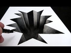 How to Draw a Hole in Paper: 3D Narrated Trick Art - YouTube