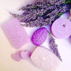 Sabonetes artesanais: glicerina hipoalergênico linha lavanda