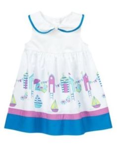 Gymboree Marina Party Navy Colorblock Rosette Set Easter Girls 18-24 Months Nwt Baby & Toddler Clothing
