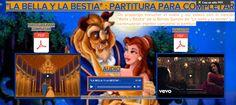 """El Lenguaje Musical de Fátima: """"LA BELLA Y LA BESTIA"""" : PARTITURA PARA COMPLETAR"""