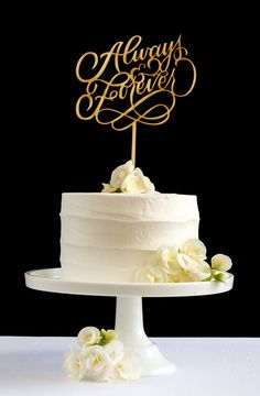 "¼"" high quality baltic birch cake topper in a beautiful rustic natural finish."