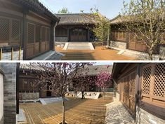 BEFORE PHOTOS - Daipu Architects have updated an old hutong in Beijing, China, and transformed it into a modern space with transparent glass skin. Chinese Architecture, Amazing Architecture, Timber Structure, Glass Skin, Courtyard House, Beijing China, Brickwork, Modern Spaces, Traditional Chinese
