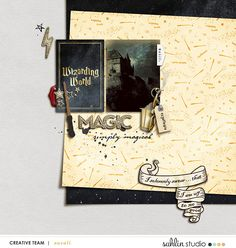 Digital scrapbooking page using Project Mouse (Wizarding) by Britt-ish Designs and Sahlin Studio Journal Cards, Disney Ideas, Scrapbook Designs, Disney Scrapbook, Universal Studios, Disney Vacations, Digital Scrapbooking, Harry Potter, Kit