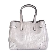 Decadent Double Face Open Bag Anaconda Light Grey