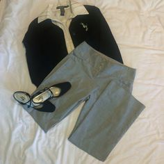 """The limited slacks Gray Cassidy fit w/ 29"""" inseam, 9"""" leg opening. Has a 2"""" zipper w/ one inner button and a wide waist band for the 3 outer button closure. 4 pockets. No piling, no fraying at the hem line. The Limited Pants"""