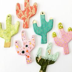 Quiet Clementine cactus ornaments