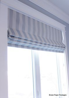 Brown Paper Packages How To Make Custom Roman Shades Uses Dowels