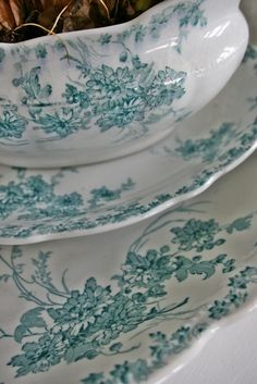 Blue and White Transferware ~ VIBEKE DESIGN