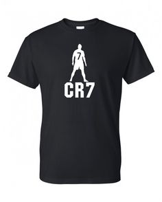 FC Real Madrid Cristiano Ronaldo soccer T-shirt looks like a good use for a freezer paper stencil