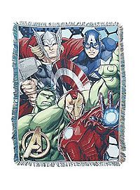 HOTTOPIC.COM - Marvel Avengers Assemble Group Woven Tapestry Throw