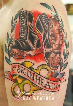 Skinhead Tattoo   by Flaming Art Tattoo