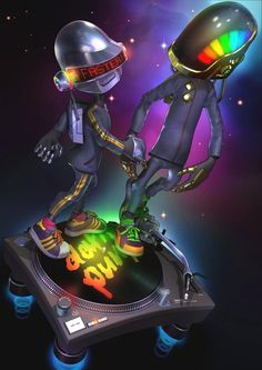 Daft Punk are an electronic dance duo formed by French producers Thomas Bangalter and Guy-Manuel de Homem-Christo in Paris in Their music is a Daft Punk Poster, Thomas Bangalter, Classic Horror Movies, Punk Art, My Favorite Music, Character Art, Illustration Art, Art Prints, Fictional Characters