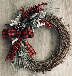 Items similar to Christmas wreath Natural winter wreath Front door decor Pine cone wreath Fall wreath Rustic holiday decor on Etsy Christmas Front Doors, Christmas Door Wreaths, Christmas Door Decorations, Holiday Wreaths, Rustic Christmas, Winter Wreaths, Summer Wreath, Spring Wreaths, Christmas Ribbon