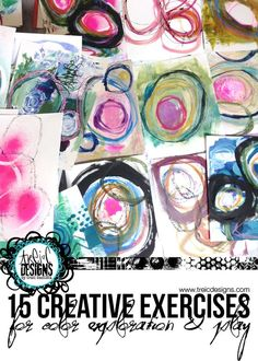 15 creative exercises for color exploration + PLAY (creativityUNLEASHED by traci bautista) Art Journal Pages, Art Journals, Creativity Exercises, Middle School Art, High School, Art Graphique, Art Techniques, Embossing Techniques, Mixed Media Techniques