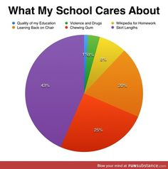 ok someone needs to fix this people go around killing themselves because teachers don't care. Teachers would rather have you have A's then be alive the school system is messes up -- uh okay then haha lol jk ikr Stupid Funny Memes, Funny Relatable Memes, Hilarious, Funny Pie Charts, Haha, School Humor, Funny School, Public School, High School Memes