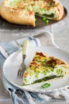 torta salata - con erbette e piselli da provare