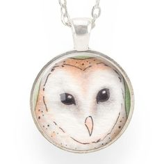Barn Owl Art Pendant  – CellsDividing
