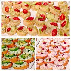 レシピとお料理がひらめくSnapDish - 5件のもぐもぐ - crostini with creamcheese herbs spread & courgette artichoke tarts by Kruti Parmar ૐ