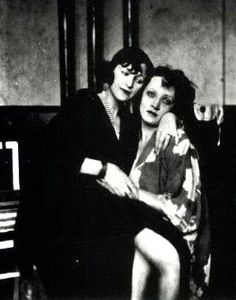Marlene Dietrich and Resel Orla photographed by Emil Orlik, c.1924