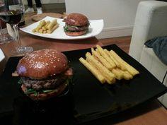 Dinner time ! American style #burger #homemade