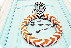 Halloween Chevron Wreath