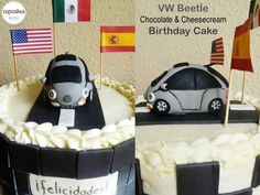 VW Beetle Chocolate & Cheesecream Birthday cake