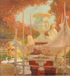 """Gaston de La Touche, """"Le sculpteur,"""" en 1910, peinture murale, Sénat, Paris, France, ©photo musée d'Orsay / rmn"""
