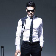 Men's Korean Fashion Unique HighEnd Slim Fit Dress by ShowRoom44, $64.00