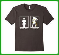 Mens Mighty Oak: Your Wife My Wife Superhero T-Shirt Large Asphalt - Superheroes shirts (*Amazon Partner-Link)