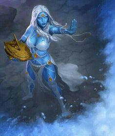 Female Undine Sorcerer - Pathfinder PFRPG DND D&D d20 fantasy