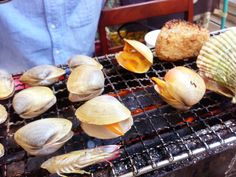 seafood BBQ♥well-done plz♥ Seafood Bbq, Fabulous Foods, Vegetables, Cooking, Kitchen, Vegetable Recipes, Brewing, Cuisine, Veggies