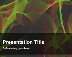 Entropy PowerPoint Template is a free abstract PowerPoint template background with some nice effects on green and red colors and a dark background style