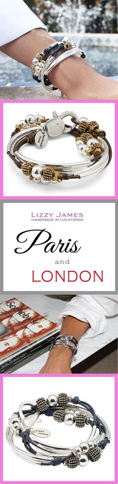 With FREE Shipping on USPS orders plus 15% OFF for all 1st time buyers, let Lizzy James Jewelry define your worldly style! Featuring leather & cotton cord wrap bracelets that can also be worn as necklaces, our designs fit all wrist sizes from petite to plus size. Proudly made in the USA! #lizzyjames