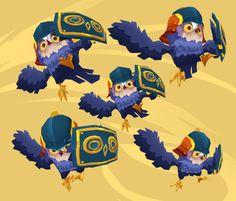 Owl Guards final concept #CharacterDesign #Gamedesign #MomongaPinballAdventures