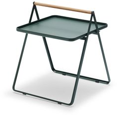 By Your Side is a classy aluminium tray-table with a soft teak handle. As the name suggests, this side table is designed to always be by your side whether used indoors or out. Diy Furniture Table, Garden Furniture, Outdoor Furniture, Furniture Design, Danish Furniture, Outdoor Sofa, Furniture Ideas, Side Coffee Table, Side Tables