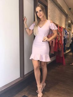 Imagem 1 Event Dresses, Nice Dresses, Casual Dresses, Short Dresses, Classy Outfits, Chic Outfits, Play Clothing, Next Clothes, Girl Fashion