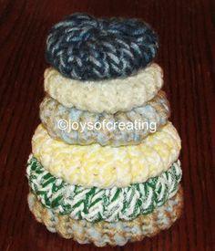 loom knit kitchen scrubbies