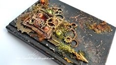 http://13artspl.blogspot.ie/. I found on Marta Lapkowska (Maremi's Small Art) - Inspirational Mixed Media on PINTREST Board