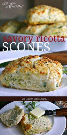 Savory Ricotta Scones | Life, Love, and Good Food #recipe #bread #breakfast