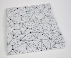 Dresówka pętelka Geometric: Bielony Melanż Premium 270g/m2