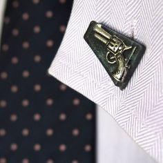Gun #cufflinks... always wear these when you're going into tough negotiations