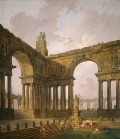 Hubert Robert (1733–1808), The Landing Place, 1788, oil on canvas. The Art Institute of Chicago, Gift of Richard T. Crane.