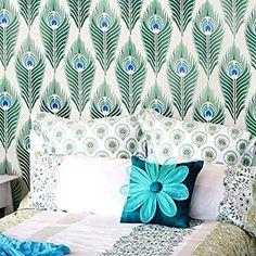 Amazon.com: Peacock Feather Allover Stencil Pattern: Home Improvement