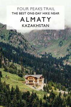 The Four Peaks Trail: The Best One-Day Hike Near Almaty Kazakhstan --- Hiking in Kazakhstan | Peak Furmanov Almaty | Medeu and Shymbulak | Things To Do In Almaty | Almaty Travel #kazakhstan #almaty #hiking #adventure #travel #shymbulak #medeu