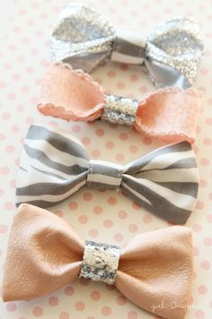 Cute, Little Hair Bows - girl. Inspired.  http://thegirlinspired.com/2014/01/cute-little-hair-bows/